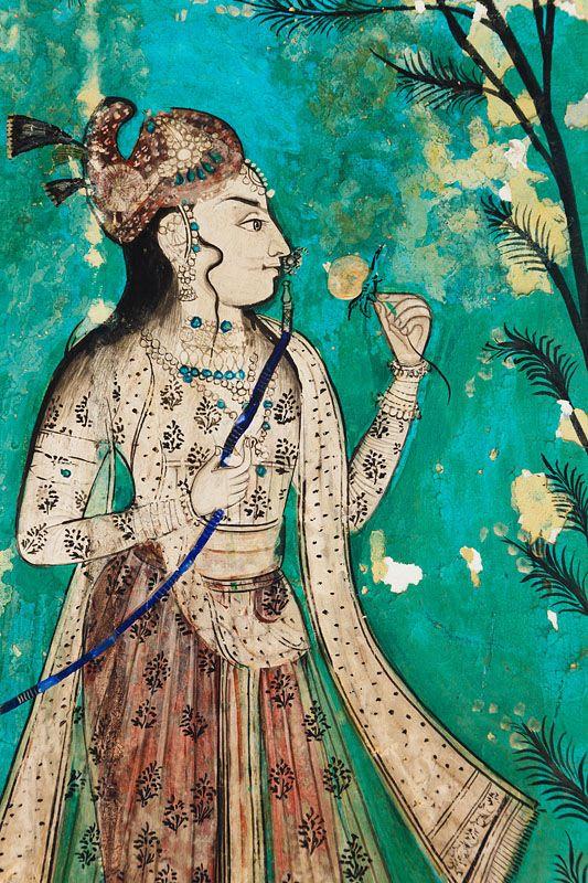 https://www.facebook.com/nikhaarfashions Wall Painting, Bundi, Rajasthan, India