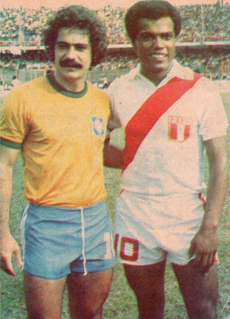 Roberto Rivelino (#Brazil) and Teófilo Cubillas (#Peru).