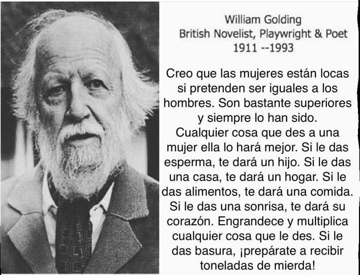 Resultado de imagen para william golding frases español