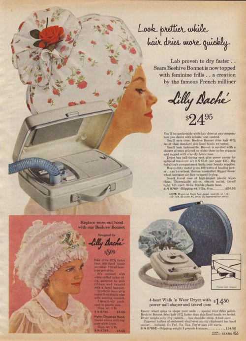 Oh yes, my mom had one of these - I can remember sitting under it while my hair dried in curlers! It was THE latest thing!