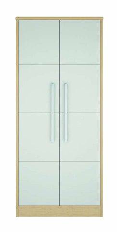 This Double Door Wardrobe is part of our Linea Bedroom Contract Furniture range. The stylish Linea range is one of our best examples of contemporary modern design. Tested to BS 4875 Part 7 Level 4 and Tested to BS 4875 Part 8. Height: 182.5cm, Width: 83cm, Depth: 54cm.
