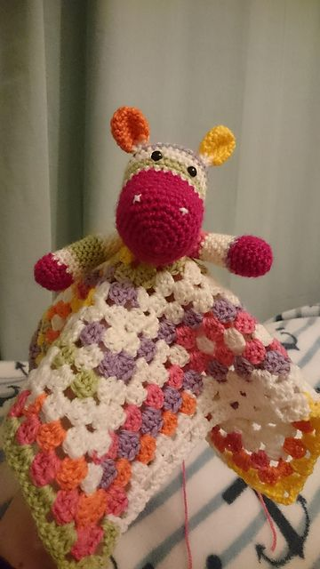 Ravelry: Hippo Snuggle Blanket pattern by Crocheted With Love UK