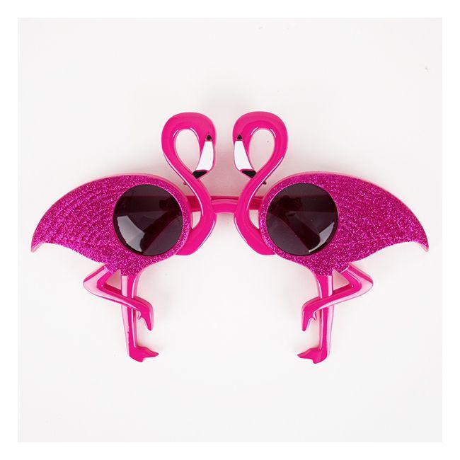 1 paire de lunettes flamant rose
