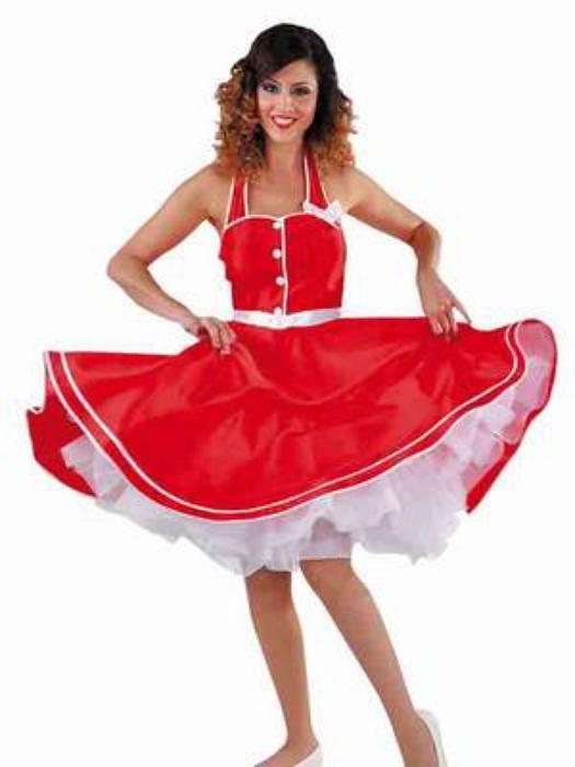 Rock n`roll jurkje rood - Las Fiestas