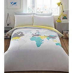 Ben de Lisi Home - Multicoloured printed 'World Explorer' bedding set