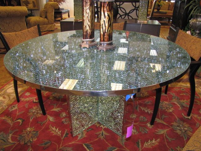 Crackle Glass Table Top Google Search Dining Room Table
