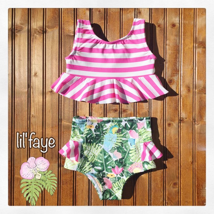 A personal favorite from my Etsy shop https://www.etsy.com/listing/502759632/high-waisted-baby-toddler-girls-swimsuit