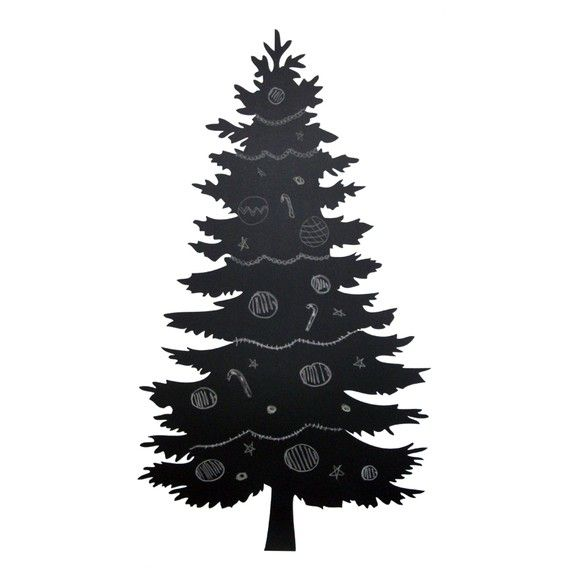 Christmas Tree Chalk Board Wall Decal Sticker
