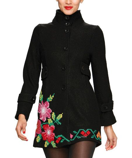 Embroidered Needlepoint Wool-Blend Jacket