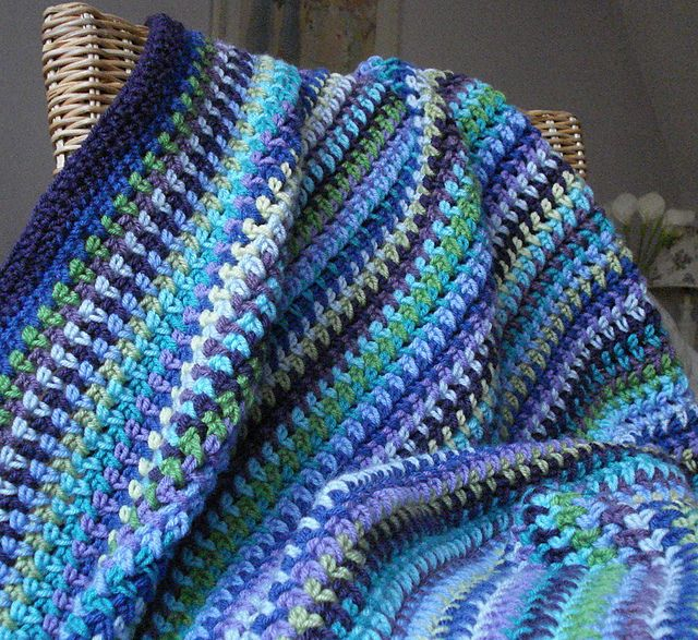 lyndamk's Lavender Fields Blanket, This is a simple hdc, chain 1 pattern