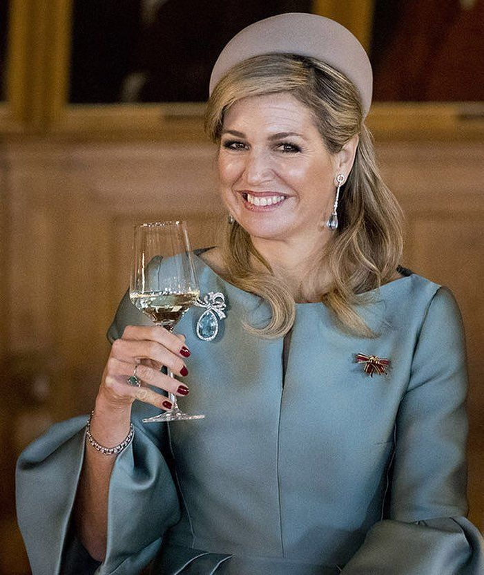 "HM Queen Maxima Of The on Instagram: ""• My favorite smile of Queen Maxima . 1/12 . Do you like this smile?❣️ . #queen #queenmaxima #QueenMáxima #smile #royals #royal #royalty"""