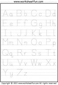Worksheets Tracing The Alphabet Worksheets For Kindergarten 25 best ideas about letter tracing worksheets on pinterest a z free printable worksheetfun
