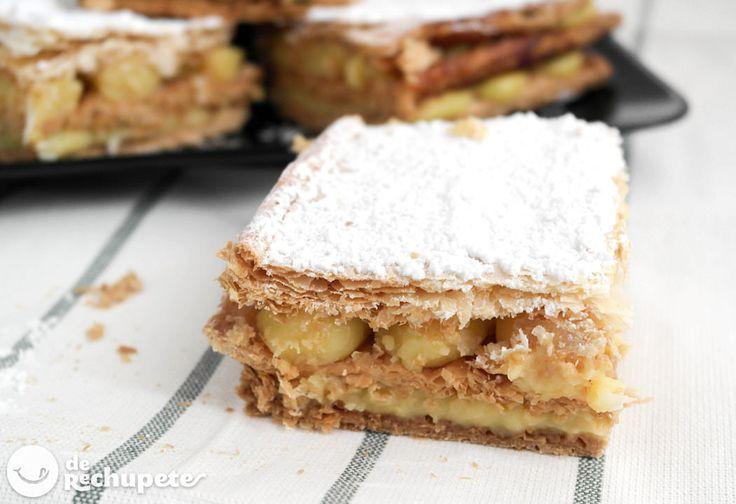 Un clásico para este fin de semana! Milhojas de crema pastelera http://www.recetasderechupete.com/milhojas-de-crema-pastelera/12727/ #receta