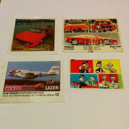 Gum inserts collection. BomBibom, Turbo, LAZER, Donald Duck