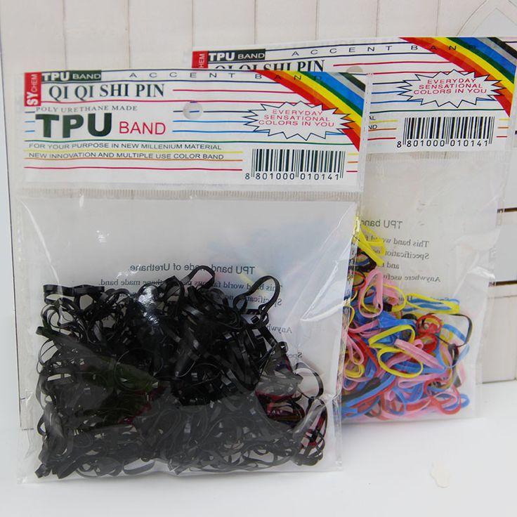 300pcs/pack Rubber Rope Ponytail Holder Elastic Hair Bands Ties Braids Plaits Hair Clip Headband Hair Accessories