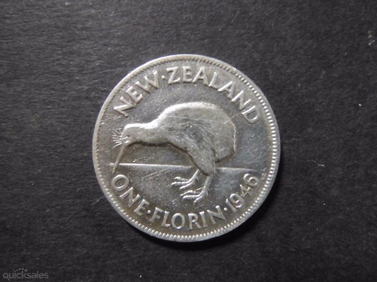 New Zealand Florin 1946, KGVI, good condition by jones101 - $30.00