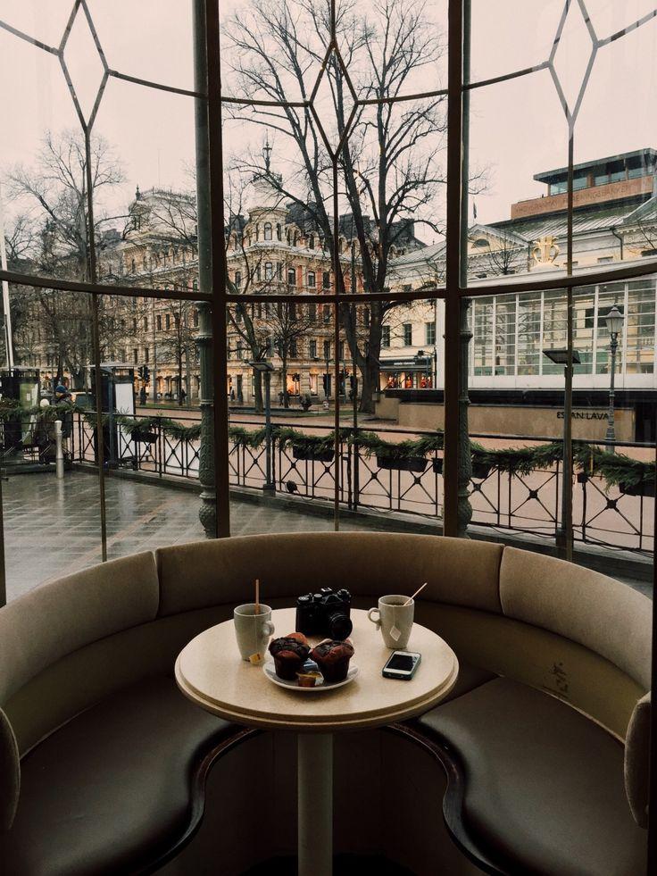 Drinking tea in Helsinki