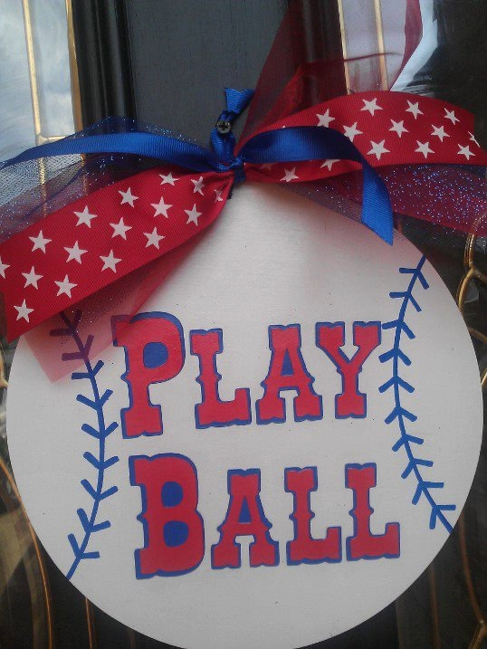 Play Ball door sign by myzanyzoo on Etsy, $15.00