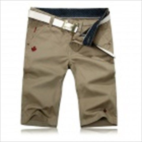 Fashionable Men's Cotton Slim Fit Leisure Shorts / Five Pants - Khaki (Size-34) $28.27