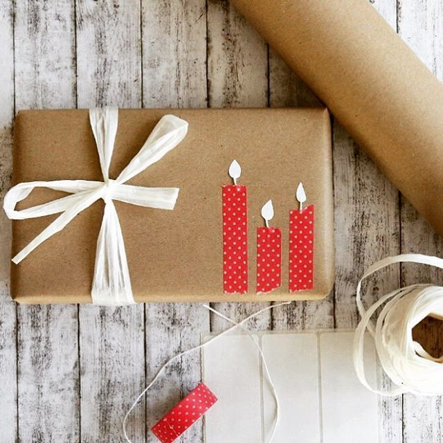 Gift wrapping with wrapping paper: three Ratzfatz ideas