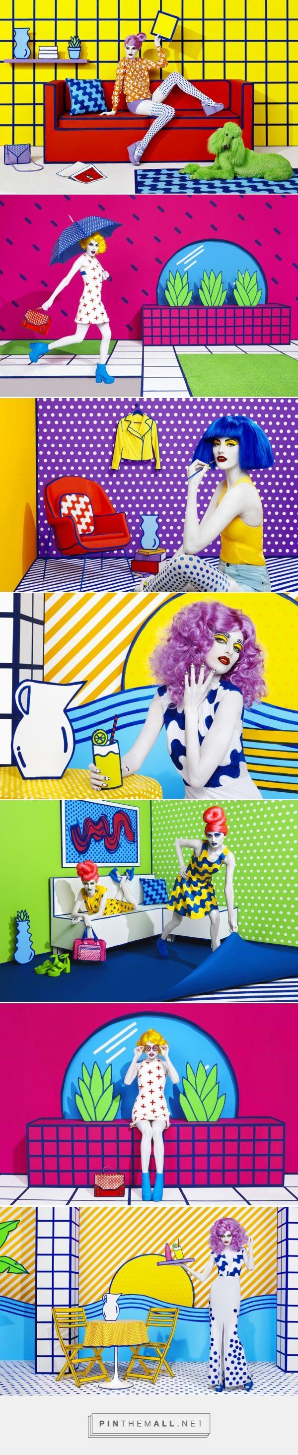 藝術攝影加上浮誇的背景設計,可以學習普普風的用色,刻意平面化的誇張風格。#pop