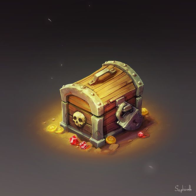 Isometric Chest by Sephiroth-Art.deviantart.com on @DeviantArt