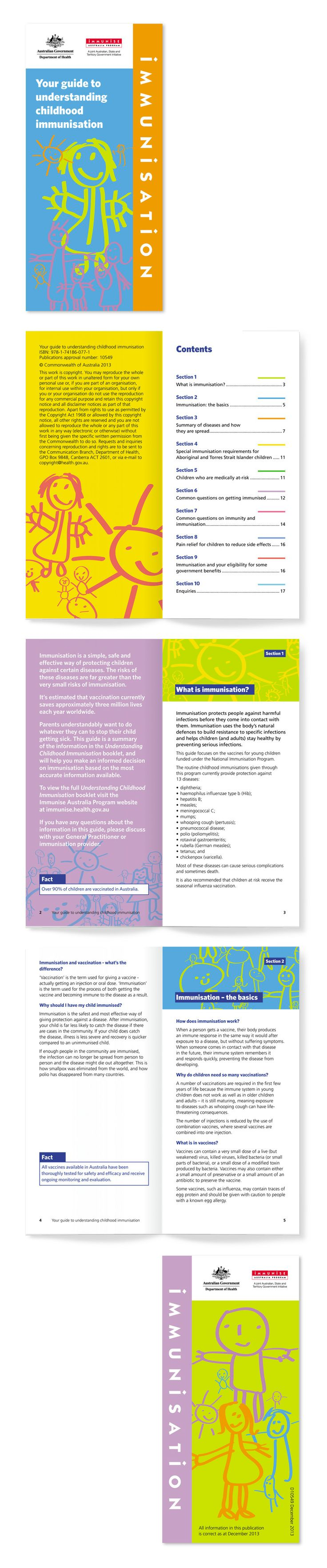 Your guide to understanding childhood immunisation DL brochure for the Department of Health. www.fenton.com.au #communication #PR #graphicdesign #brochure