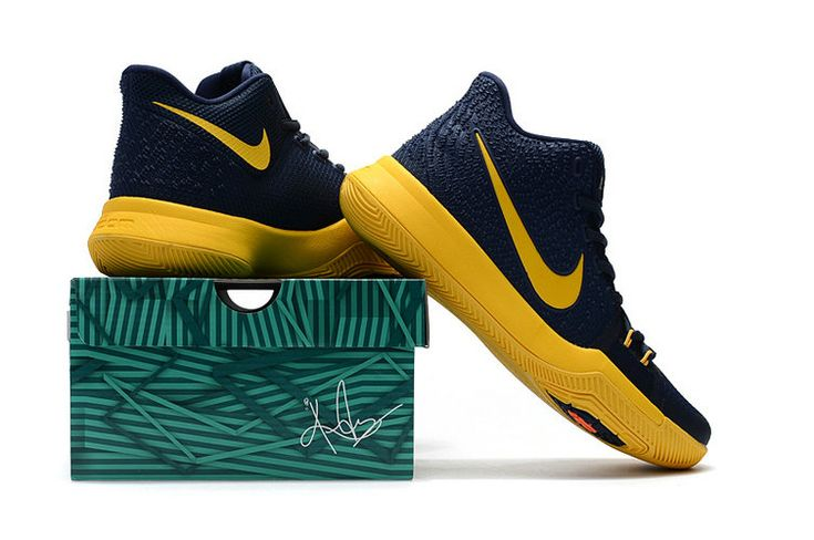 Kyrie Irving Shoes 3 2017 Cavs Cleveland Cavaliers Midnight Navy Gold