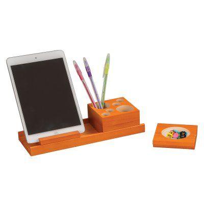 Safco Products Splash Wood Desk Organizer Set Orange - 3280OR
