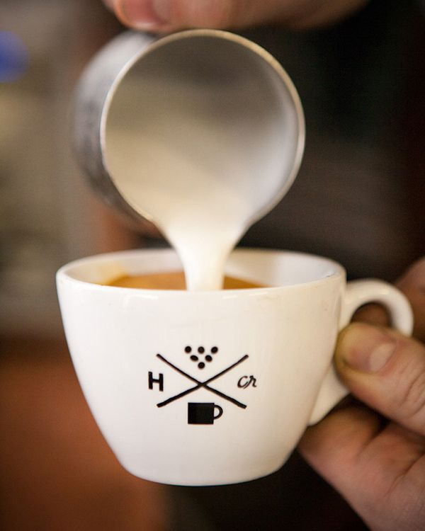 Café handsomecoffee - Hipster Logo