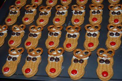 Nutter Butter reindeer!  Nap Time Crafts: christmas: Christmas Food, Holiday, Nap Time, Time Crafts, Nutter Butter, Butter Rudolph, Butter Reindeer