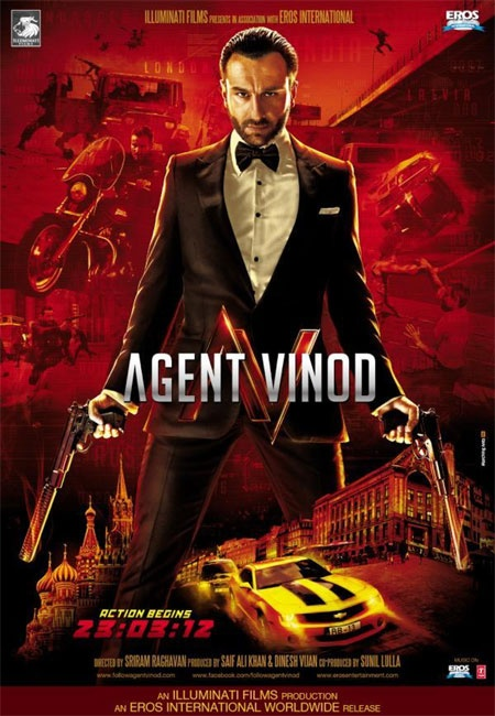 Agent Vinod. Upcoming Bollywood fare. Will probably check it out