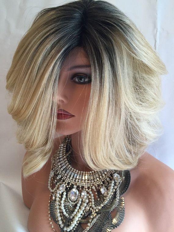 Beverly Hills Bob Dr613 Dark Root Platinum Blonde Bob Lace