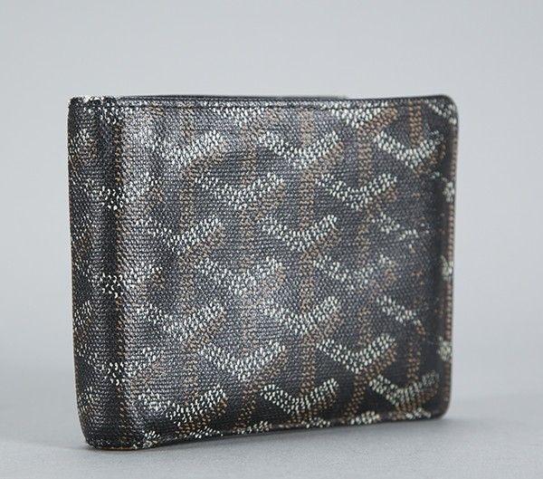 Goyard Black Monogram Coated Linen Bifold Mens Wallet