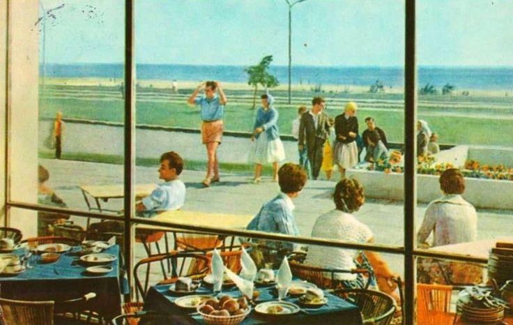 Mamaia,Romania - Restaurant Flora - 1960s via Turism de Altadata  https://www.facebook.com/Turism-De-Altadata-1452352131723305/?fref=photo