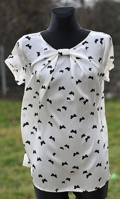 blouse with bow, free sewing pattern from papaveri.   For more DIY fashion inspiration, head to www.sewinlove.com.au