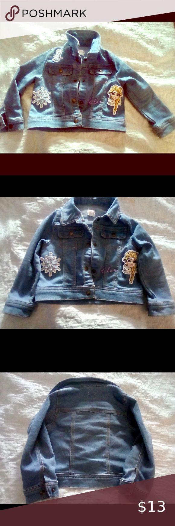 Disney Frozen Denim Jacket Toddler Girl 3t Toddler Girl Denim Jacket Disney Jacket [ 1740 x 580 Pixel ]