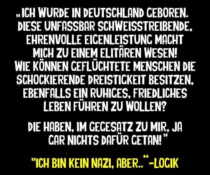 #ich bin kein nazi, aber - logik