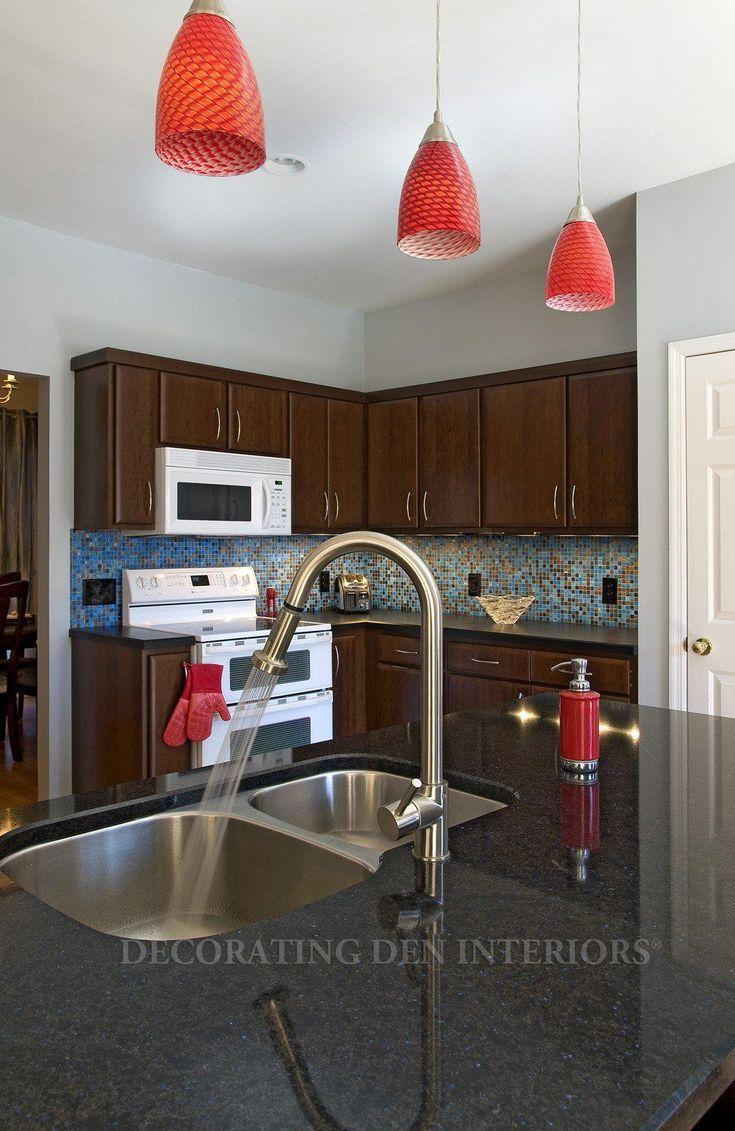 Red Glass Kitchen Pendant Lights