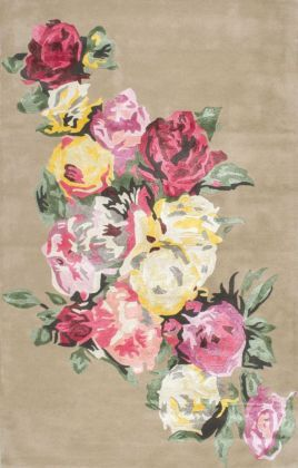 Datura EL01 Floral Rose Rug