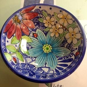 Damariscotta pottery, Damariscotta MAINE painted by Tessa