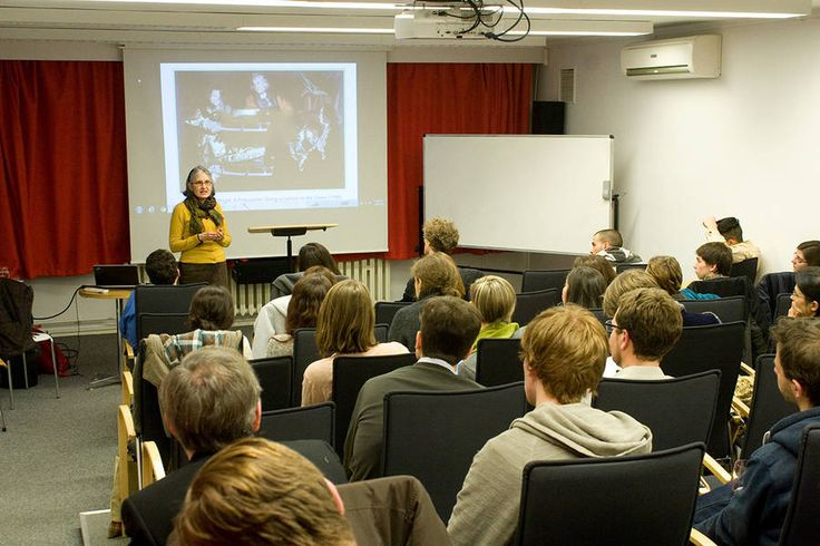 Lorraine Daston, Director at the Max Planck Institute for the History of Science, Berlin gives a guest lecture on campus (2013)
