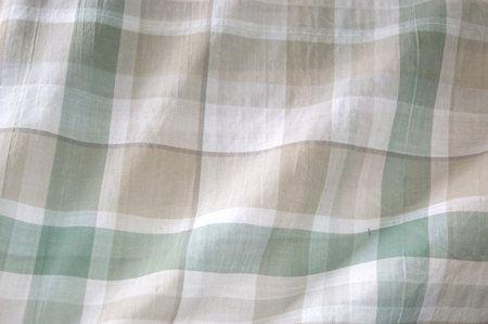 NB 13 3228-53 Ruit dun katoen beige/groen