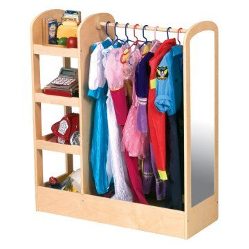 Guidecraft See and Store Dress Up Center - Natural - Daycare Storage at Hayneedle