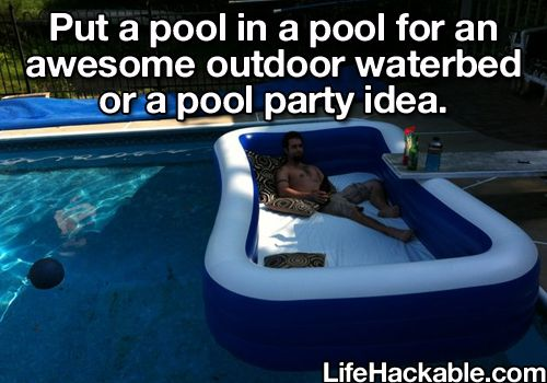 A pool in a pool party hack