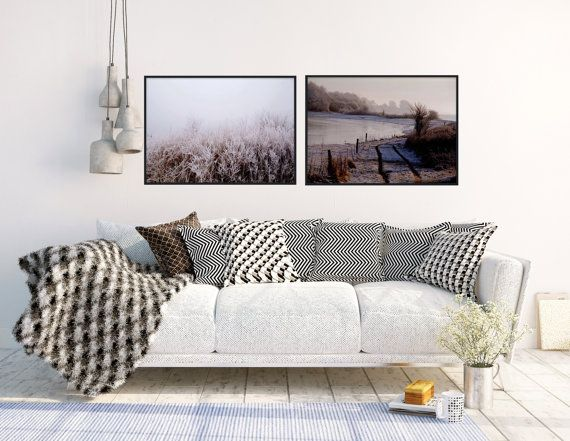 Set of 2 nordic winter photography minimalistic by TheClayPlay