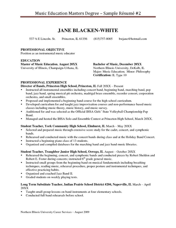 graduate teachers resume example