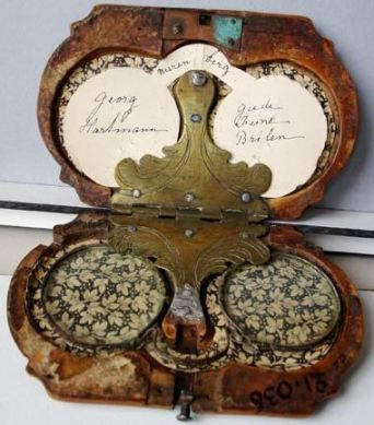 17th century glasses with case.
