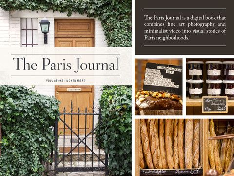 The Paris Journal is a digital book that combines fine art photography and minimalist video into visual stories of Paris neighborhoods. Each volume explores one neighborhood over the course of one day.