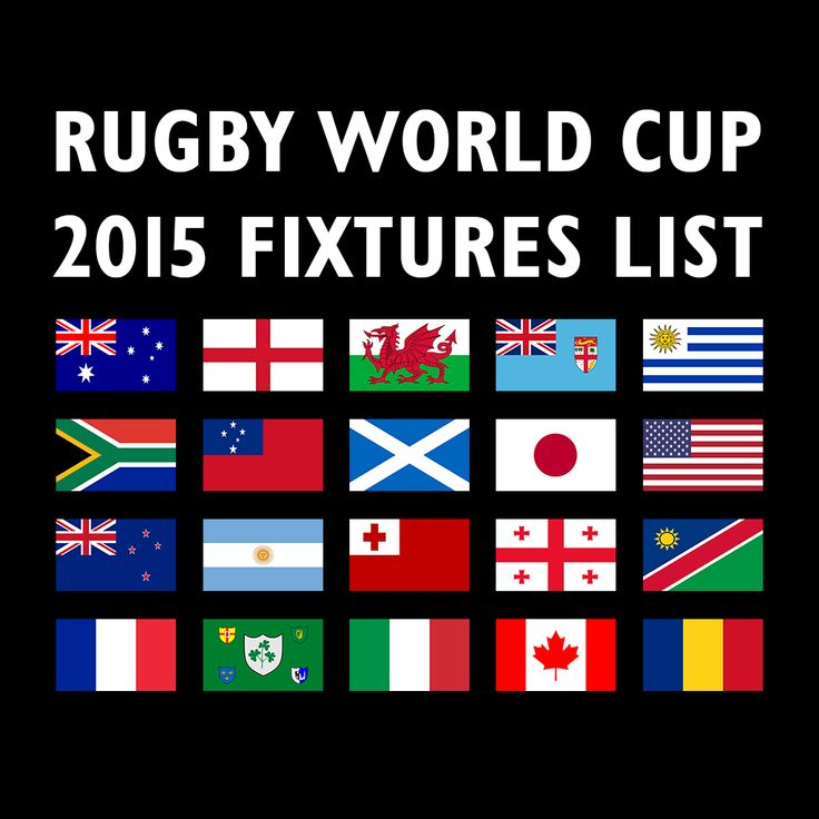 Rugby World Cup 2015 Fixtures. The regular Autumn International rugby matches will give way to something altogether bigger in 2015, when the Rugby World Cup comes to town! Twenty nations will compete for the ultimate prize in rugby, the Webb Ellis Cup, which was last won by New Zealand in 2011. The four home unions – England, Ireland, Scotland and Wales – will all be hoping to safely negotiate the pool stages and then see how far they can progress in the tournament. Contact us for more…